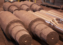steel forgings and finished rolls